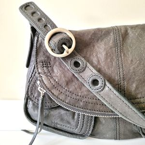 Lucky Brand Distressed Leather Shoulder Bag